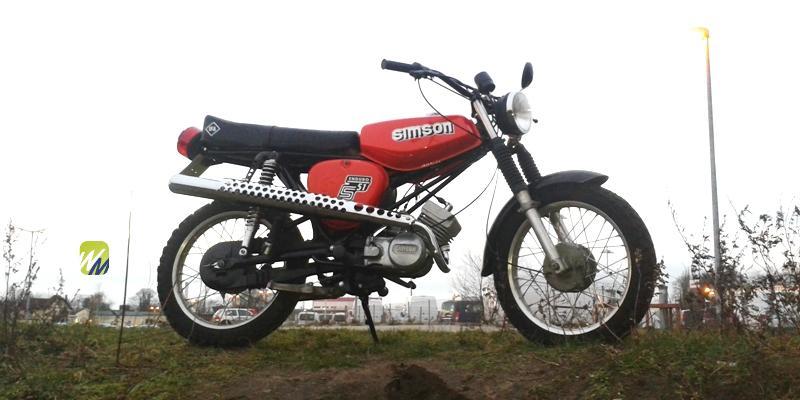 Simson-Enduro-Rot