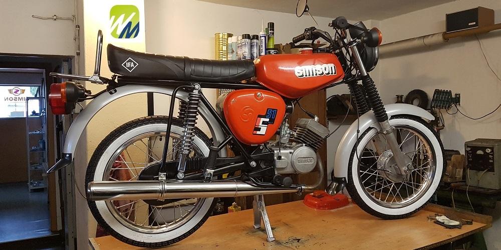 Simson-Motor-S51-restauriert-rot