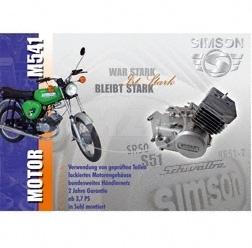 10x Postkarten - Händlerwerbung für den MOTOR-SERVICE - Motor M541-M741