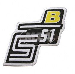 Klebefolie Seitendeckel -B- gelb