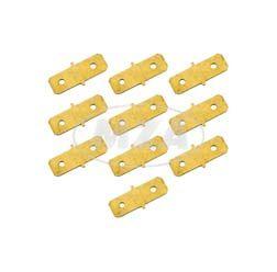 SET 10 Stück Doppel-Flachanschlußstücke - Flachsteckverbinder unisoliert - f. Kabelschuh 6
