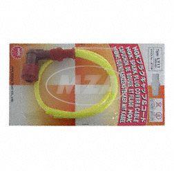 Zündkerzenstecker NGK Racing - mit gelben Hochleistungs-Silikonzündkabel (50cm) und 90°-Phenolharzstecker (5 K-Ohm)