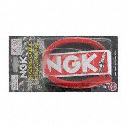 Zündkerzenstecker NGK Racing mit rotem Hochleistungs-Silikonkabel und 90°-Silikonstecker (5 K-Ohm)